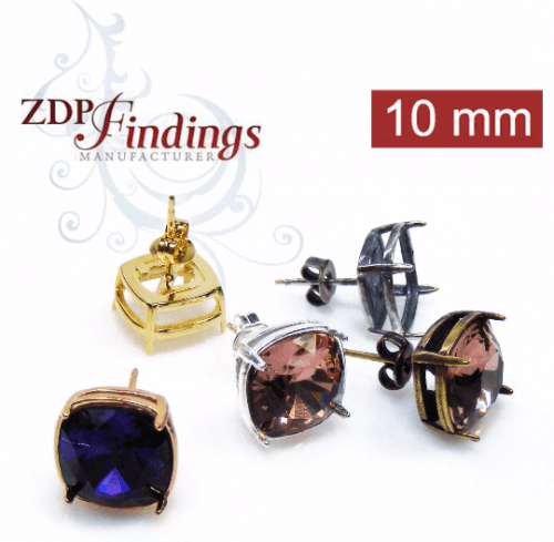 10mm 4470 Swarovski Post Earrings