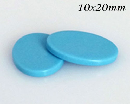 Turquoise Oval Flat, Choose your size.