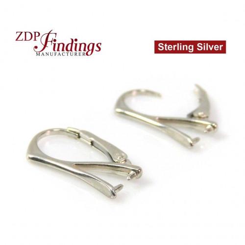 20x10mm Silver 925 Lever back earring base