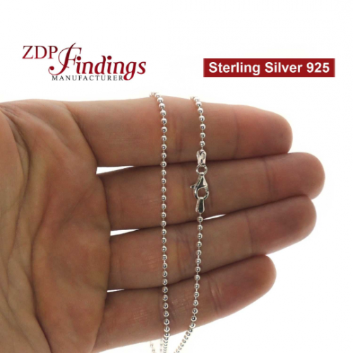 Sterling Silver 925 Finished Ball Chain
