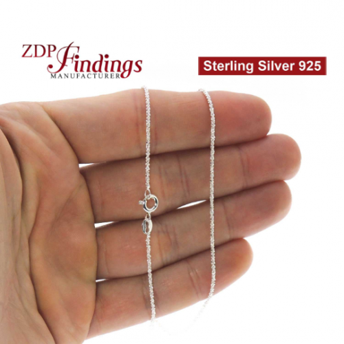 Sterling Silver 925 Finished Diamond Cut Chain