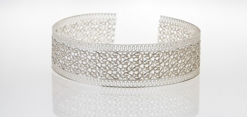 12 Inch Gallery Wire 935 Sterling Silver , 30x0.8mm