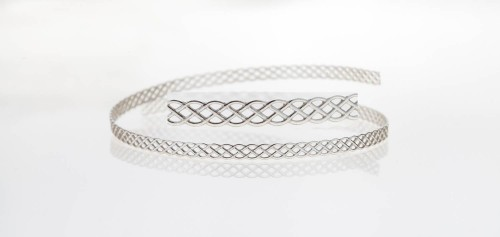 12 Inch Gallery Wire 935 Sterling Silver , 3.4x0.6mm