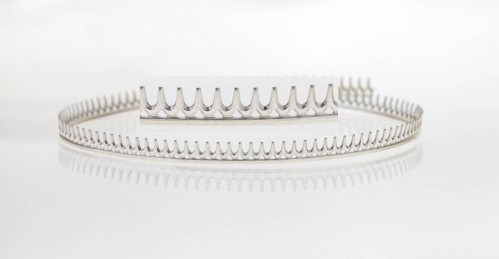 12 Inch Gallery Wire 935 Sterling Silver , 5.5x0.7mm