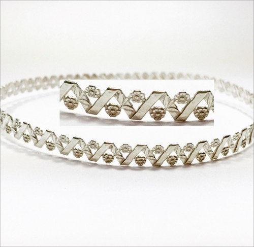 12 Inch Gallery Wire 935 Sterling Silver , 6x0.8mm