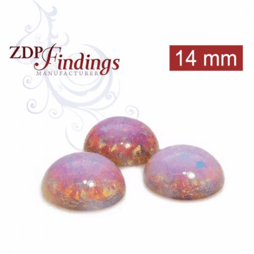 Opal Glass Cabochons 13mm fit 14mm European Crystals Rivoli