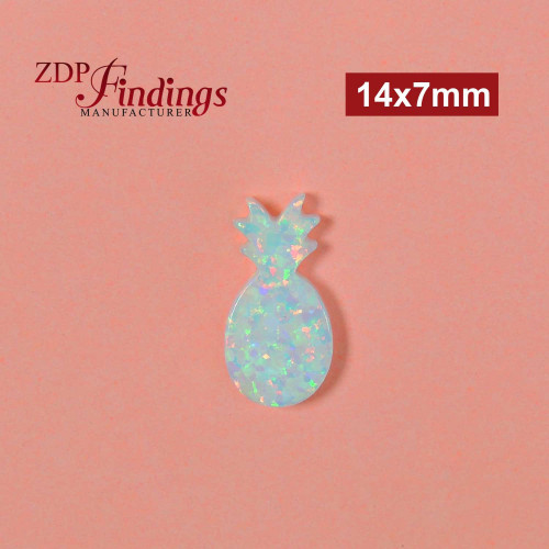 16x10mm White Opal Pineapple Shape Bead