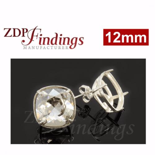 12mm 4470 Swarovski Post Earrings