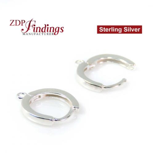12x10mm Sterling Silver 925 Lever Back drop Dangle earring Base