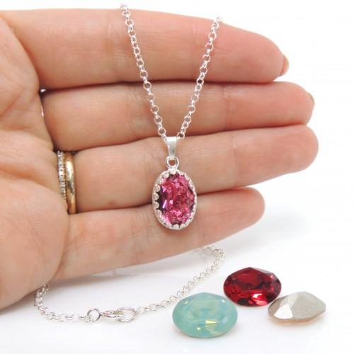 Full kit silver 925 European Crystals Necklace DIY