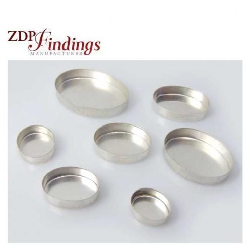 Very Deep Oval Sterling Silver 925 Bezel Cup