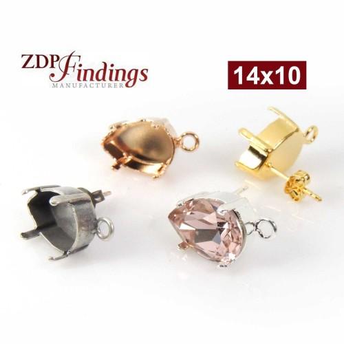 14x10mm 4320 Swarovski Post Earrings