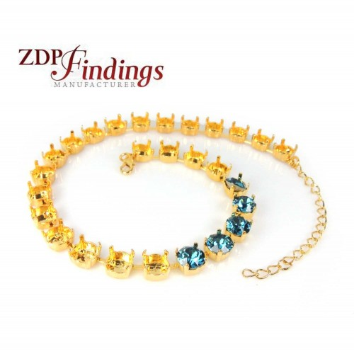 """280mm (11"""") Necklace Base Fit 27 pcs European Crystals 39SS"""