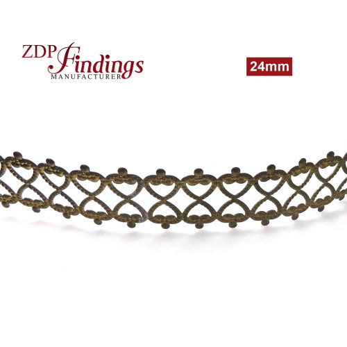 7.3mm Curved Brass Gallery Pattern Wire, 24 inch