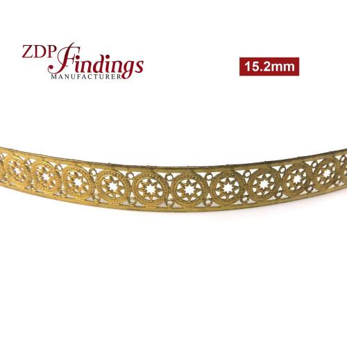 15.2mm Hexagon Brass Gallery Pattern Wire, 24 inch