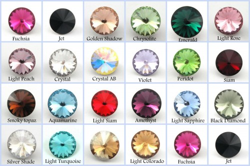 12mm 1122 Swarovski Rivoli , Choose you color