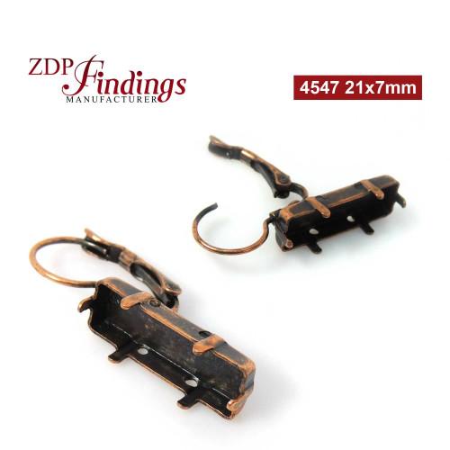 21x7mm 4547 Swarovski Lever back Earrings