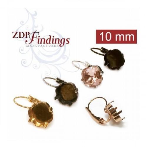 10mm 4470 Swarovski Lever back Earrings, Choose your options
