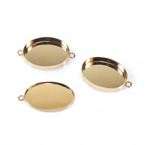 25x18mm Oval Gold Filled Bezel Cup