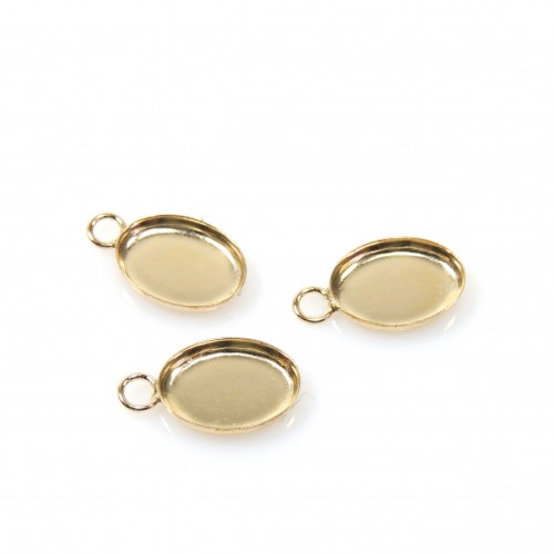8x6mm Oval Gold Filled Bezel Cup with 1 Loop