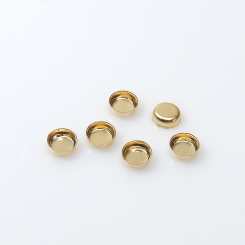 4mm Round Gold Filled Bezel Cup