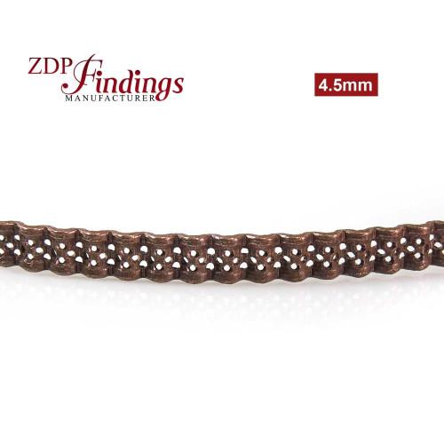 4.5mm Width Brass Gallery Pattern Wire, 24 inch