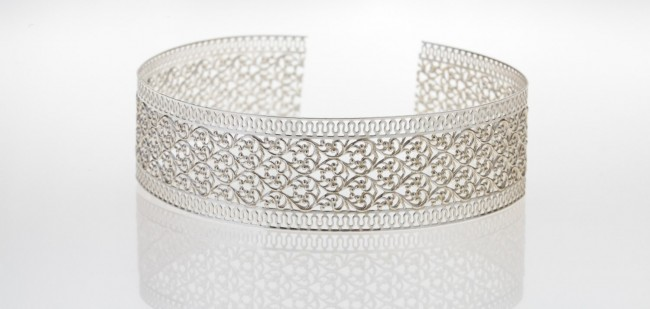 Gallery Wire | 12 Inch Gallery Wire 935 Sterling Silver 30x0 8mm