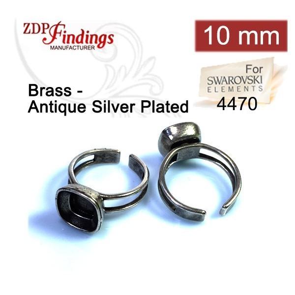 c2b28a8b7 10mm 4470 Ring Base, Antique Silver