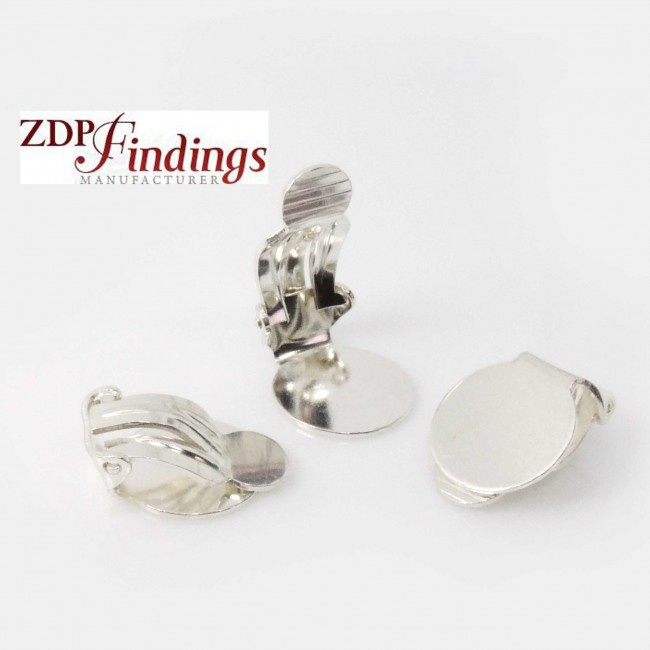 12mm Silver 925 Clip On Earrings Finding