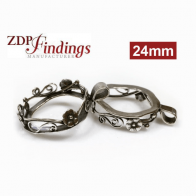 24mm  bezel setting Anti-tarnish Sterling Silver 925