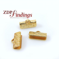 10x5mm Basket Textured Ends for flat cord