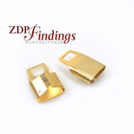 20x13mm x End Cups Gold for flat cord
