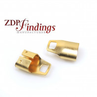 16x11mm x End Cups Gold for flat cord