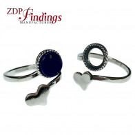 8mm 925 Silver Adjustable Ring Base