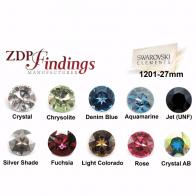 27mm Round European Crystals Rivoli 1201