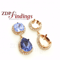 18x13mm 4470 Swarovski Post Rhinestone Earrings, Choose your options
