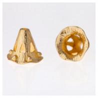 10x5mm Shiny Brass Cones