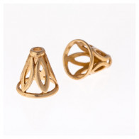 11.4x8.8mm Shiny Brass Cones