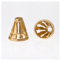 11.6x8mm Shiny Brass Cones
