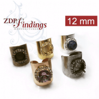 Rhinestone Ring fit 12mm Round Swarovski 1122