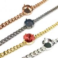 13.5cm Bracelet with 12mm Square Bezel fit Swarovski 4470