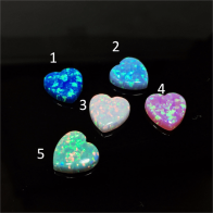 10mm Opal Heart Bead Pendant Charm