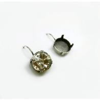 Round 12mm Lever back Earrings fit Swarovski 1122
