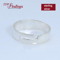 Adjustable Ring Base Blank, Sterling Silver 925