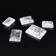 Octagon Cabochon Ice Clear Crystal Quartz Gemstone
