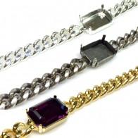 16.5cm Bracelet with 18X13mm Octagon Bezel fit Swarovski 4610