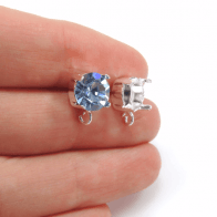 Round 8mm Post Earrings Fit Swarovski SS39