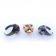 Round Flower Ring Settings For Swarovski SS39-Antique Brass