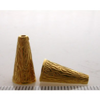 15.8x5.6mm Shiny Gold Cones
