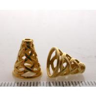 12.4x7.5mm Shiny Gold Cones